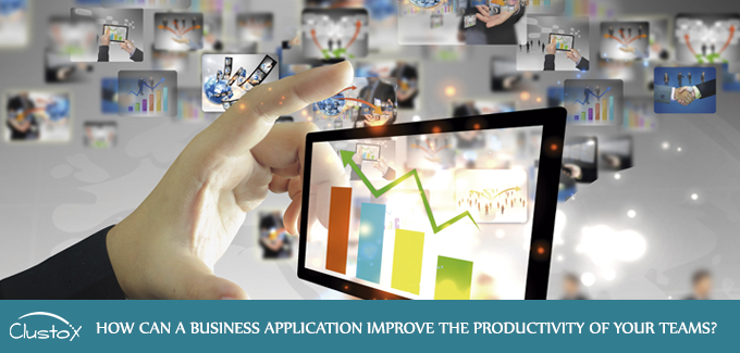 How can a business application improve productivity of your team