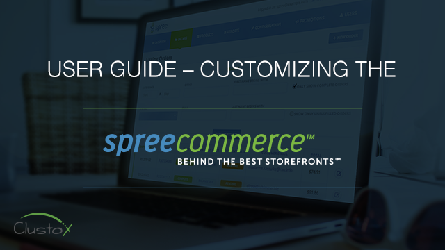 User guide customizing the spreecommerce